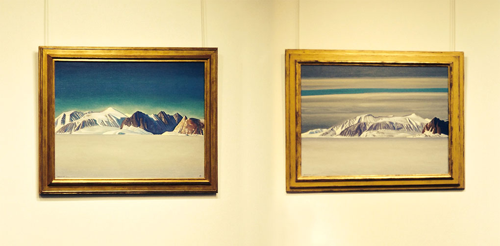 """Left: """"Blue Day,"""" Right: """"Grey Day,"""" Rockwell Kent"""